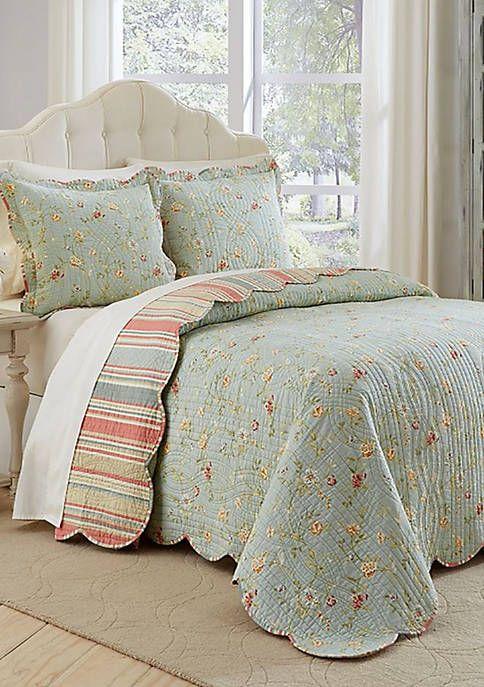 Garden Glitz Kng 3 Pc Bdsprd Set Bed Spreads Bedspread Set Country Bedding Sets