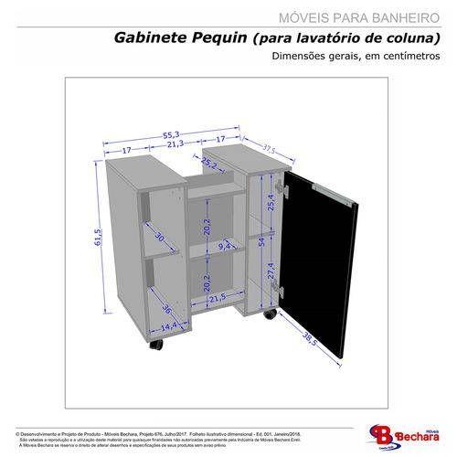 Foto 3 Gabinete Armario Banheiro Para Pia De Coluna Pequin
