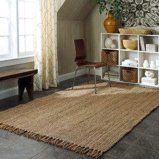 nuLOOM Handmade Eco Natural Fiber Chunky Loop Jute Rug (8u00276 x 11u00276) by  Nuloom | Great deals, Jute rug