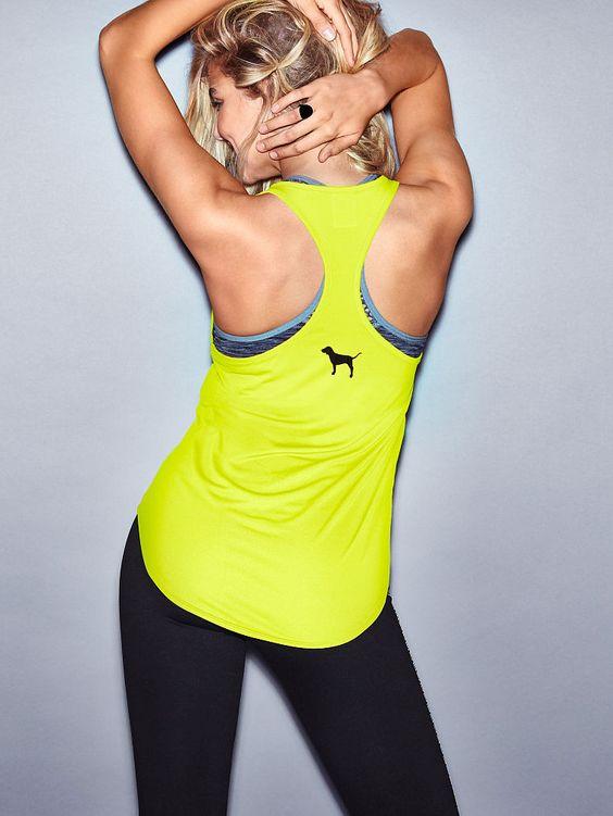 Racerback Tank - PINK - Victoria's Secret Workout clothes for Women SHOP @ FitnessApparelExpress.com