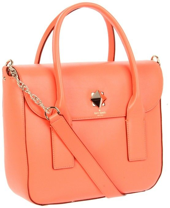 #Kate_Spade What a great color! Who wouldn't love to have a coral colored kate spade bag on her next cruise!