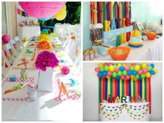 ideias simples festa  pintando o sete