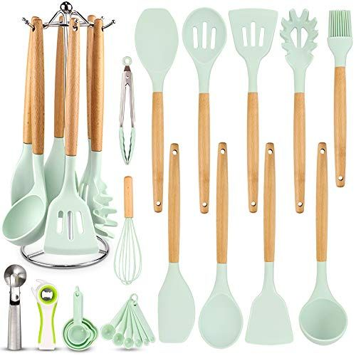 Silicone Kitchen Cooking Utensil Set Eagmak 16 Pcs Kitchen