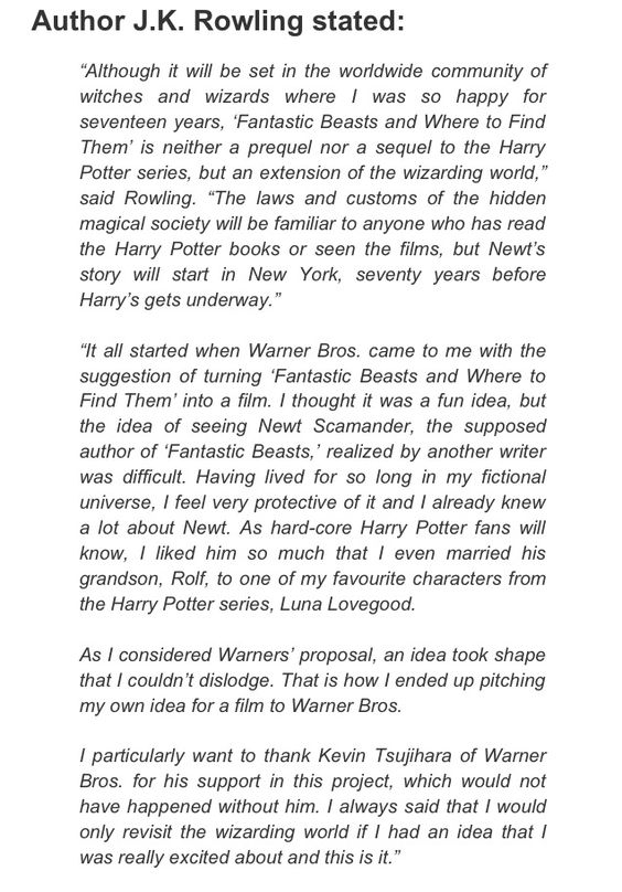 Fantastic Beasts and where to Find them film is being written by J.K. Rowling!!! The Potter fandom will rise once more!
