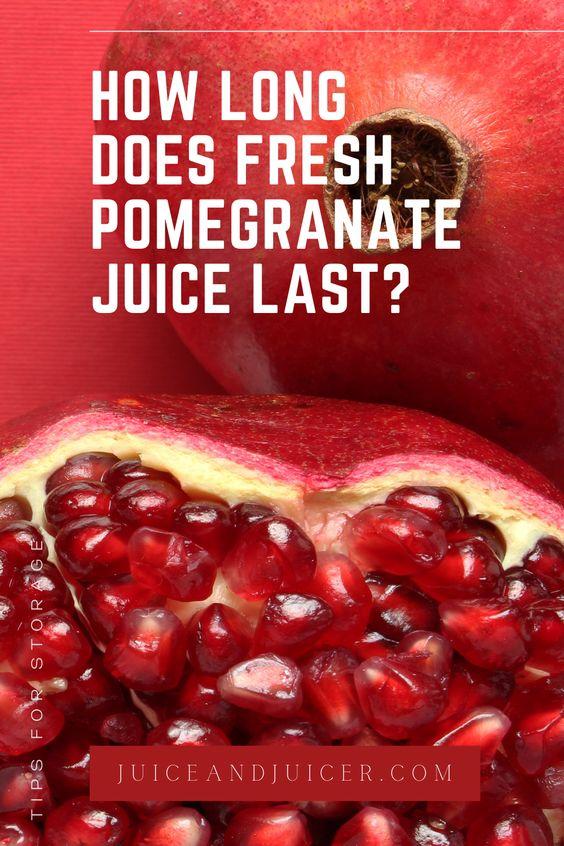 How to tell if Pomegranate juice has gone bad