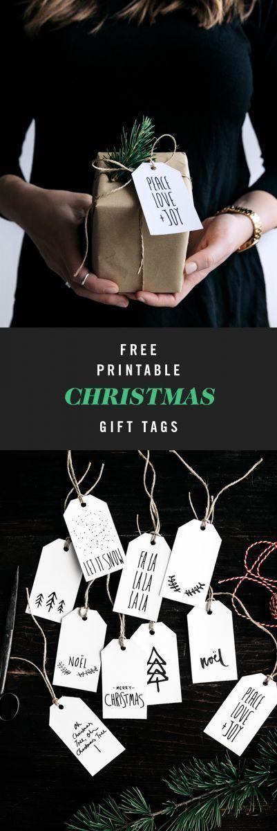 Free Printable Christmas Gift Tags   Gather & Feast