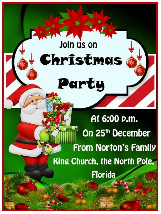 5 Format Of Free Corporate Christmas Party Invitation Templates And Review