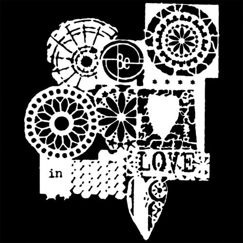 The Crafters Workshop MINI BE IN LOVE 6 x 6 Template TCW523S at Simon Says STAMP!