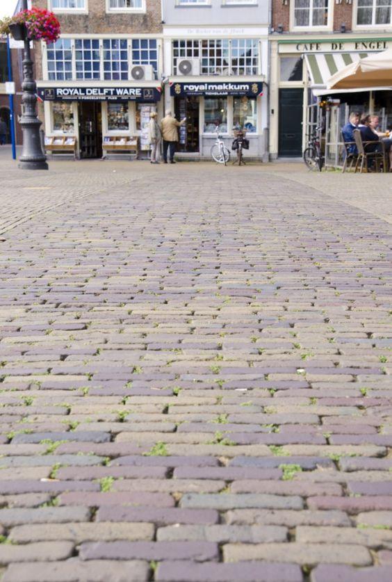 Brickwork on the Grote Markt in Delft