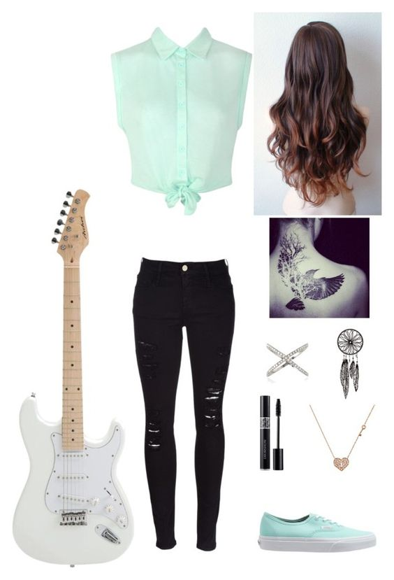 """""""Untitled #95"""" by swagheart ❤ liked on Polyvore featuring Ally Fashion, Frame Denim, Christian Dior, Vans and Sydney Evan"""