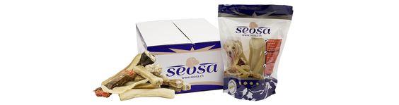 Das Innenleben einer Seosa Bestellung. In der Versandschachtel finden Sie unsere Beutel und darin die gewünschten Produkte.