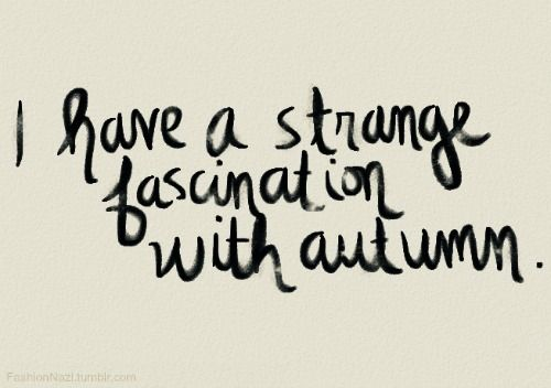 Maybe it's the crisp mornings, pumpkin everything, halloween, the changing leaves, sweater weather...to name a few.