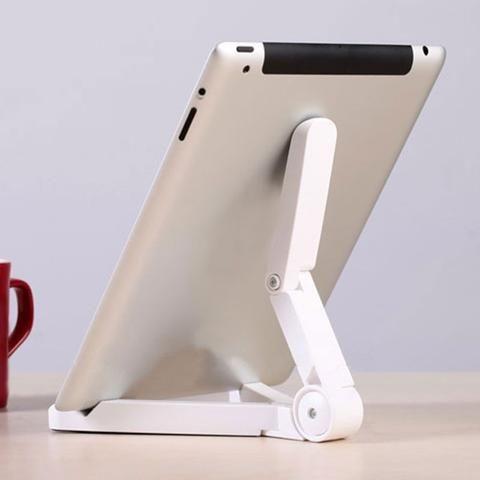 Aluminium Alloy Tripod Adjustable Desktop Dock Folding Holder for iPad Tab