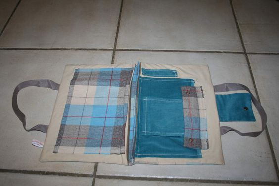 Pochette d'artiste ecossais bleu