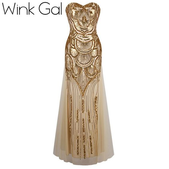 Find More Dresses Information about Wink Gal Gold Silver Lace Up Sequined Dress Bodycon Strapless Off Shoulder Vintage Mermaid Party Dresses Handmade  W10480,High Quality sequin dress,China party dresses Suppliers, Cheap dress up from Wink Gal on Aliexpress.com