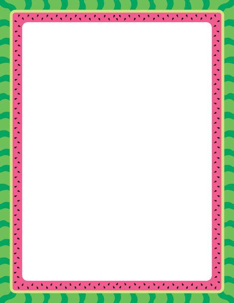 printable watermelon border free gif jpg pdf and png