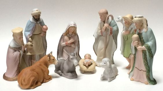 1988 Geo Z Lefton China Christmas Nativity Set Christopher Collection A Fabrini