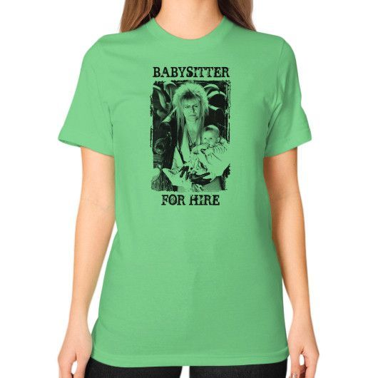 Babysitter Unisex T-Shirt (on woman)