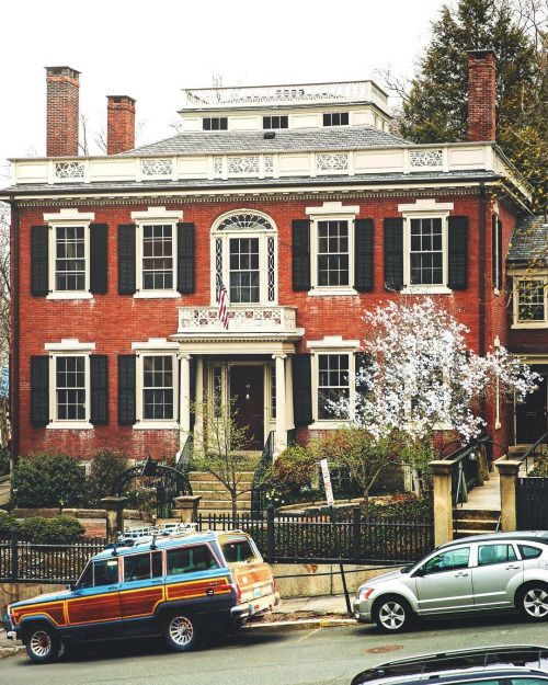 Amazing Federal mansion on the East Side of Providence, RI nestled within the Brown University campus where I went to college.  This is where I fell in love with historic houses & architectural history.