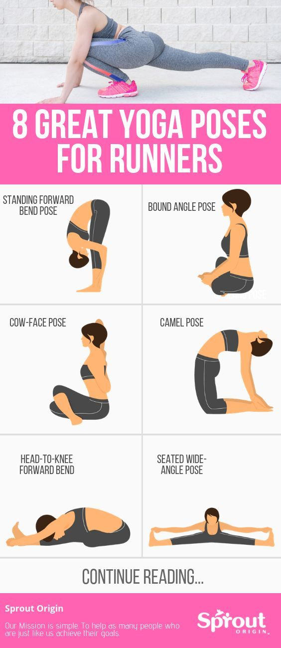 8 Great Yoga Poses For Runners Yoga For Runners Basic Yoga Yoga Poses