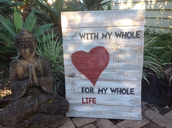 Made from pallet wood for my love.