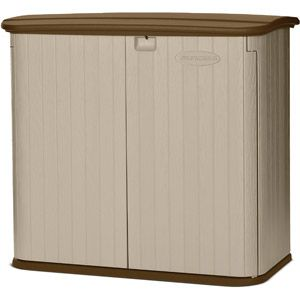 Suncast 32 cu ft Storage Shed, Taupe | Taupe, Sheds and Storage sheds