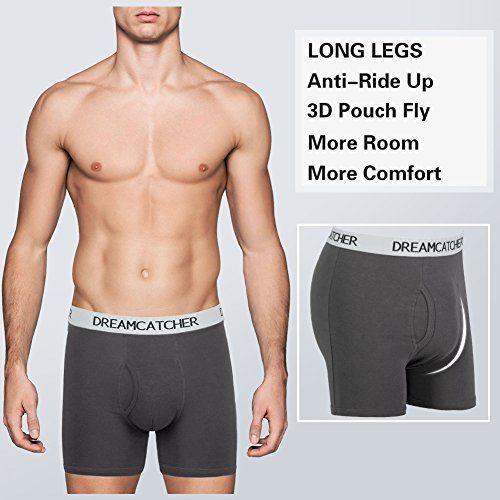 Small 5-pack Black Boxer Briefs 5Mayi Cotton Regular Long Mens Boxer Underwear