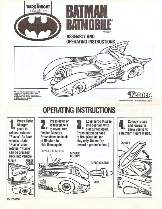 Instruction Manual Example - Viewing Gallery Batman \/ Batgirl - instruction manual template word