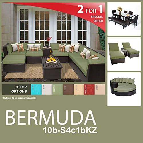 Furniture · Bermuda 21 Piece Outdoor Wicker ...
