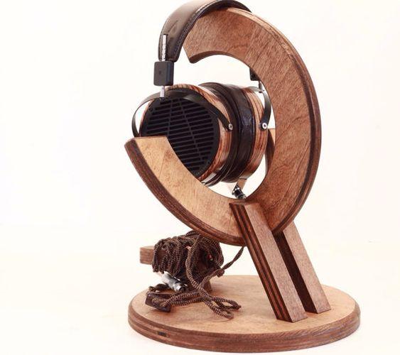 Pinterest the world s catalog of ideas - Wooden headphone holder ...