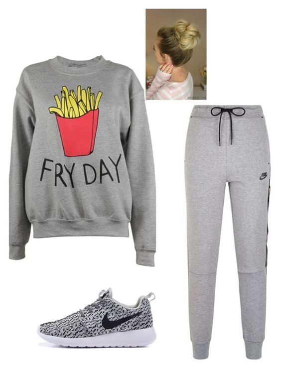 """""""chill time"""" by nickshetz1987 ❤ liked on Polyvore featuring NIKE and Adolescent Clothing"""