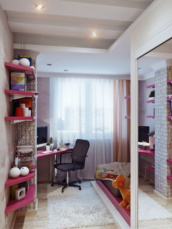 Small space with study corner