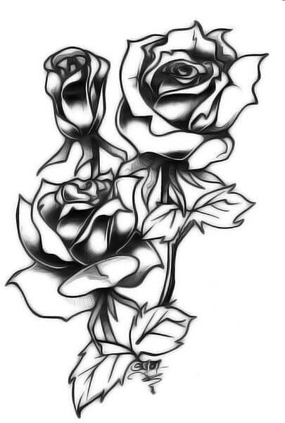 Rose Tattoo Designs The Body Is A Canvas In 2020 Tribal Rose Tattoos Mens Sleeve Tattoo Designs Tattoo Designs Tumblr