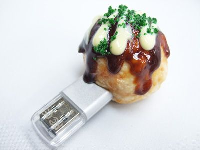 you can use food samples> takoyaki USB 16GB