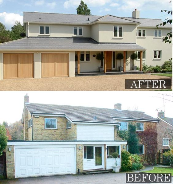 More exterior remodelling home and design pinterest for Before after exterior 1930