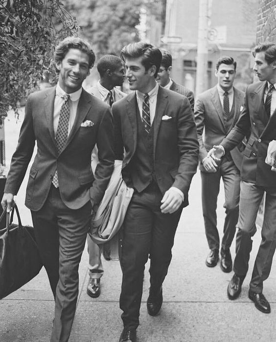 Class. Elegance. Especially the first guy from the left. :) #Suits #OldSchool