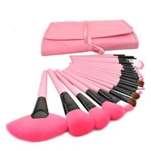 24 Pcs Makeup Brushes Eyebrow Tool Set Eyeshadow Brush Cosmetic Pink. Free Shipping!