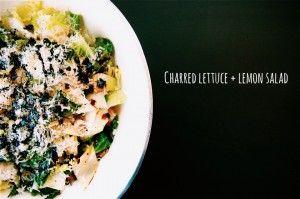 Charred Lettuce & Lemon Salad