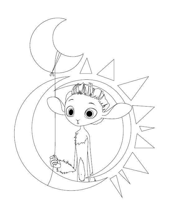 Pin By Rebekah Ruby On Coloring Pages Guardian Of The Moon Moon Art Coloring Books