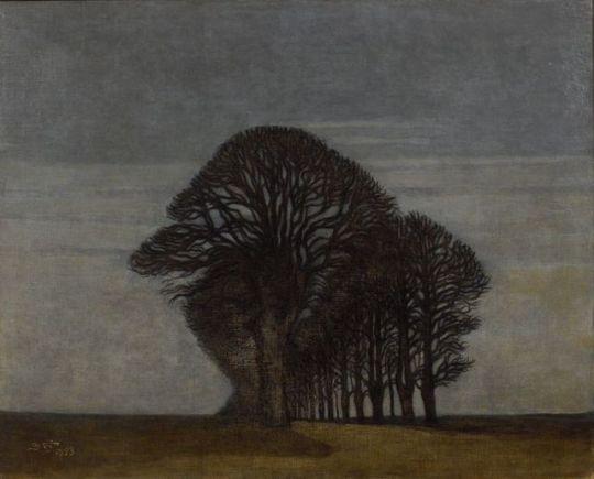 Svend Hammershoi Danish 1873 1948 Alleen Avenue 1893 Oil On Canvas 83 X 104 Cm Art Graphisme