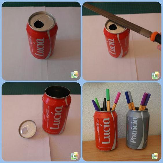 ideas con latas de coca cola