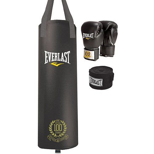 Everlast 100-Year Anniversary 80-Pound Heavy Bag Kit