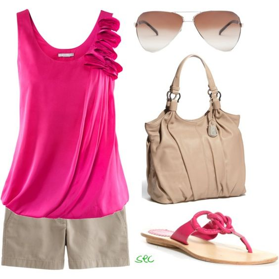 """Fuchsia summer"" by coombsie24 on Polyvore"