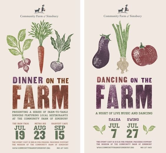 Dinner on the Farm - Event poster