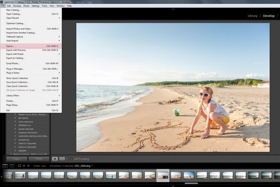 how to setup and use lightroom export presets photo