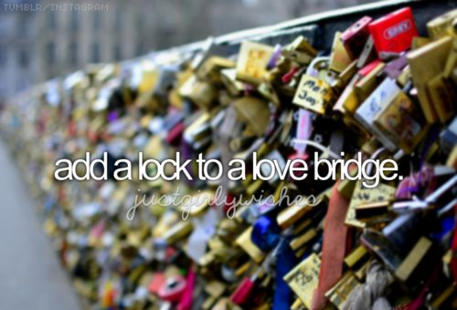 Yes,please! I love the concept behind these love lock bridges! It would be amazing! :)