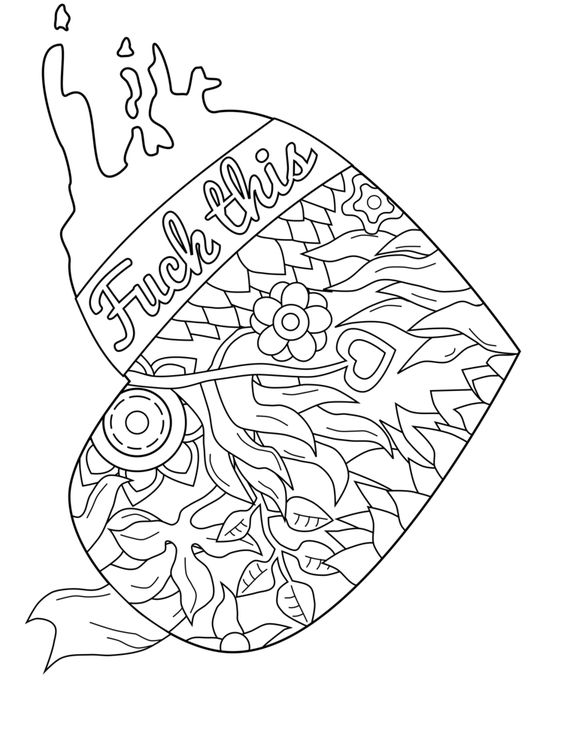 Swear Word Coloring Pages Pdf Coloring Pages