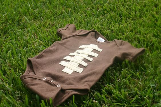 """Lines Across"": Football Onesie"