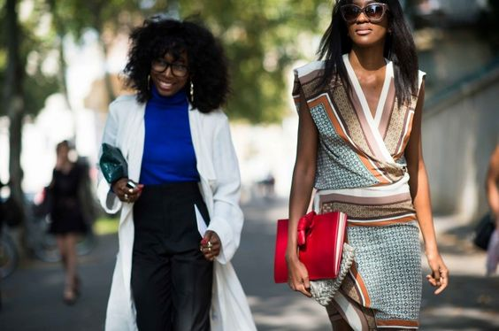 Street Style from Paris Fashion Week Spring 2014: Stylists, Zerlina Akers and Peju Famojure
