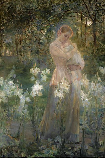 The Sun Child,   Dora Hitz. Germany (1856 - 1924)